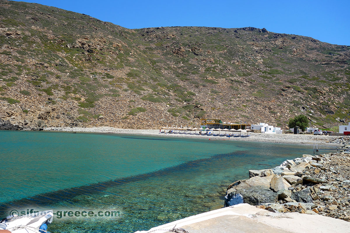 La spiaggia Vroulidia a Sifnos